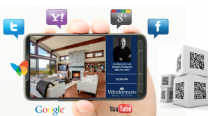 real estate you tube listing videos with mobile media and social media integration